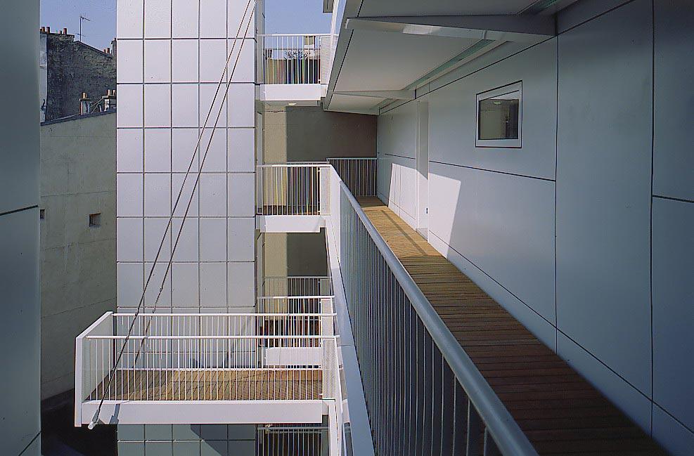 Aaupc patrick chavannes immeuble de 30 logements et for Projet architecture paris