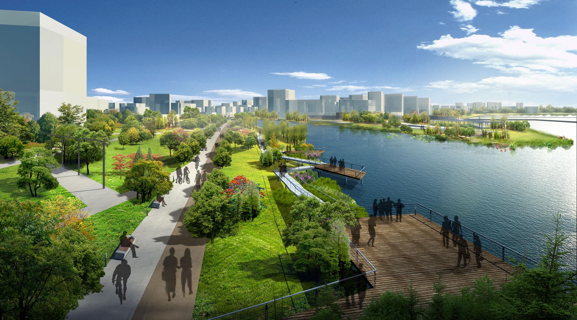 Aaupc patrick chavannes nanhai sanshan projet paysag for Ville nature
