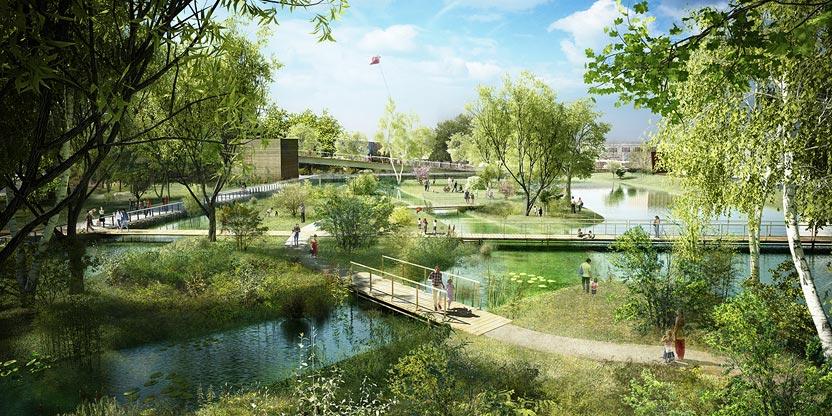 Aaupc patrick chavannes cr ation d un centre ville for Piscine urbaine le jardin de catherine
